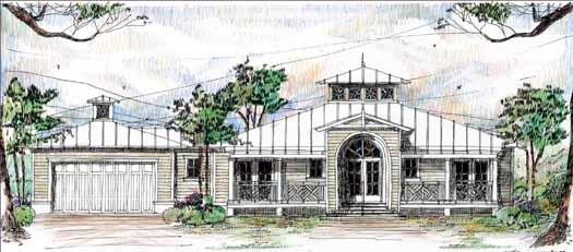 Coastal Style House Plans 54-112