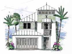 Coastal Style Floor Plans Plan: 54-114