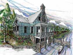 Coastal Style Home Design 54-119