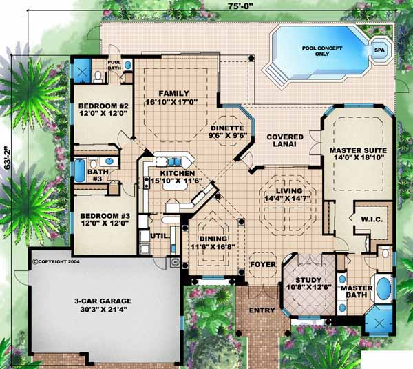 Main Floor Plan: 55-104