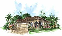 Mediterranean Style House Plans Plan: 55-104