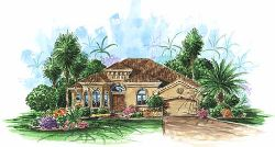 Mediterranean Style Home Design Plan: 55-105