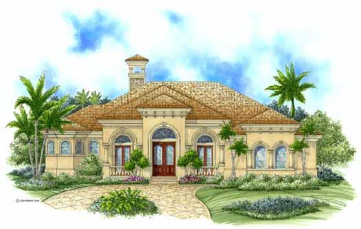Mediterranean Style Floor Plans Plan: 55-107