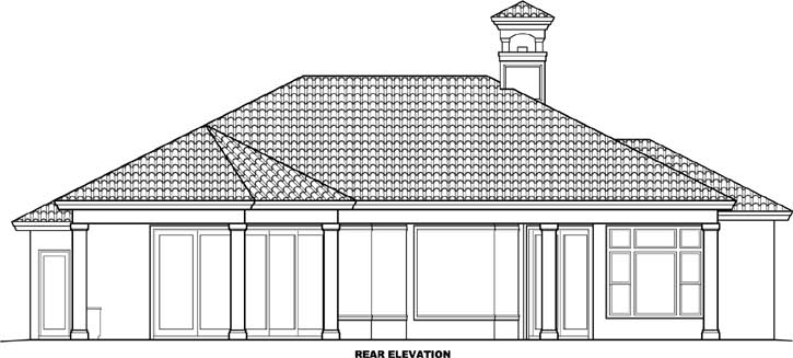 Rear Elevation Plan: 55-107