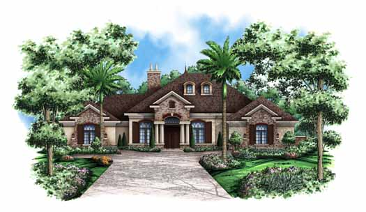 French-country Style House Plans Plan: 55-109