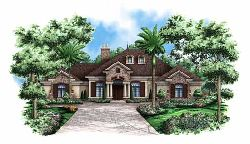 French-Country Style House Plans 55-109