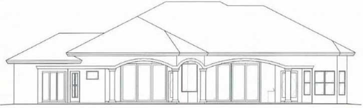 Rear Elevation Plan: 55-112