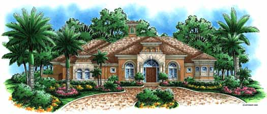Italian Style House Plans Plan: 55-115
