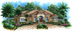 Italian Style Home Design Plan: 55-115