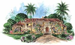 Mediterranean Style House Plans Plan: 55-116