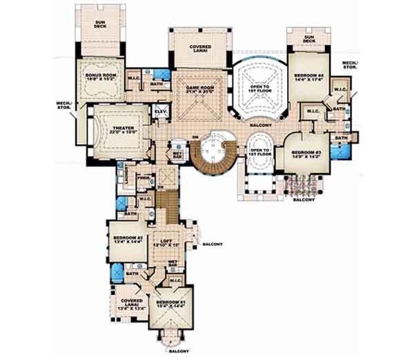 Upper/Second Floor Plan: 55-116