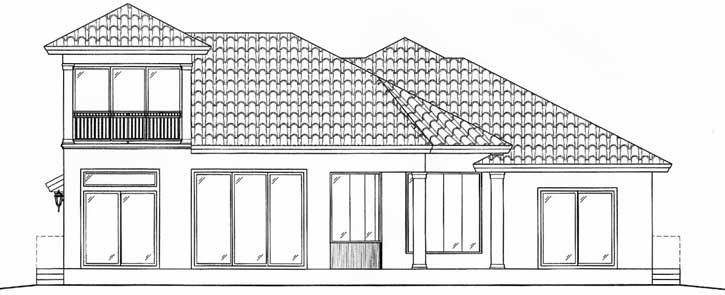 Rear Elevation Plan: 55-117