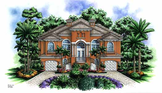 Italian Style Floor Plans Plan: 55-118