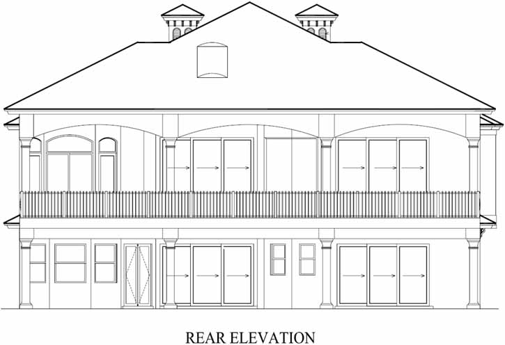 Rear Elevation Plan: 55-118