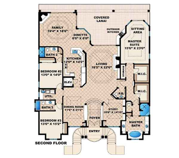 Upper/Second Floor Plan: 55-118
