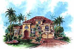 Mediterranean Style House Plans Plan: 55-129