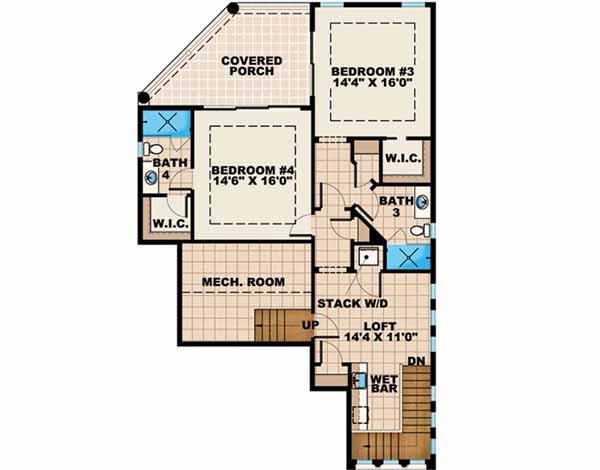 Upper/Second Floor Plan: 55-132