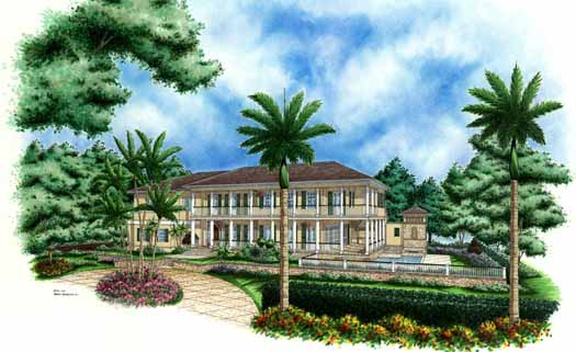 Country Style House Plans Plan: 55-133