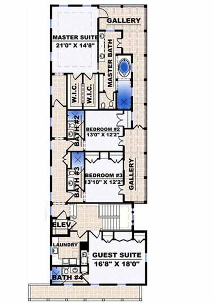 Upper/Second Floor Plan: 55-133