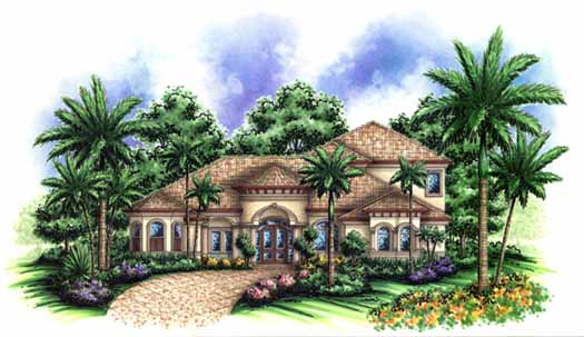 Mediterranean Style House Plans Plan: 55-140