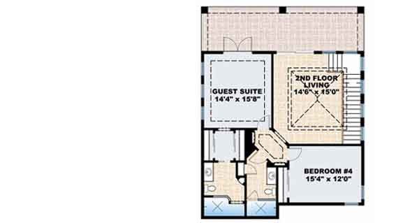 Upper/Second Floor Plan: 55-140
