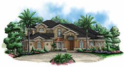 French-Country Style House Plans Plan: 55-144
