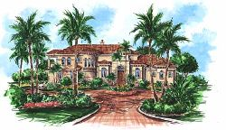 Mediterranean Style House Plans Plan: 55-145