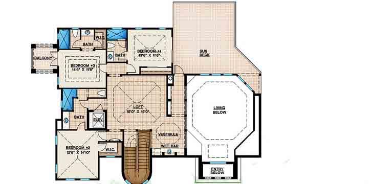 Upper/Second Floor Plan: 55-145