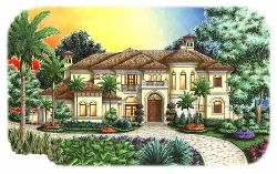Tuscan Style House Plans Plan: 55-157