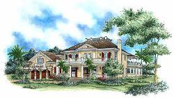 Georgian Style House Plans Plan: 55-158
