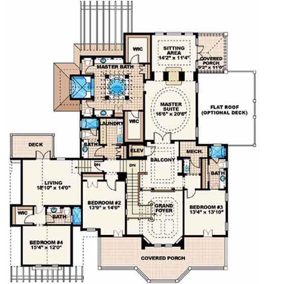 Upper/Second Floor Plan: 55-158