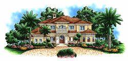 Mediterranean Style Floor Plans Plan: 55-163