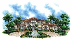 Mediterranean Style Floor Plans Plan: 55-164