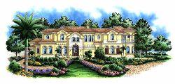 Mediterranean Style Home Design Plan: 55-165
