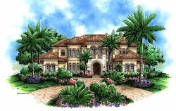 Mediterranean Style House Plans Plan: 55-167