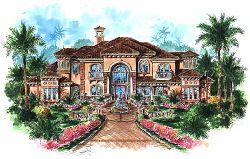 Mediterranean Style House Plans Plan: 55-169