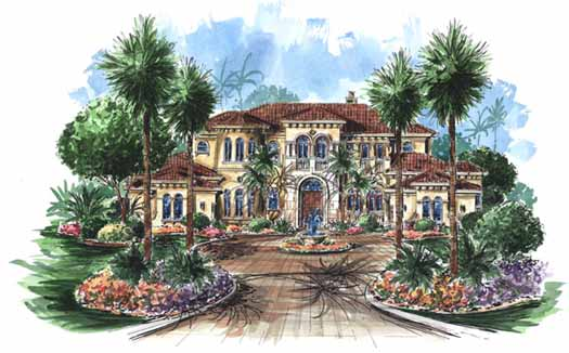 Tuscan Style House Plans Plan: 55-170