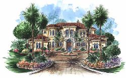 Tuscan Style Floor Plans Plan: 55-170