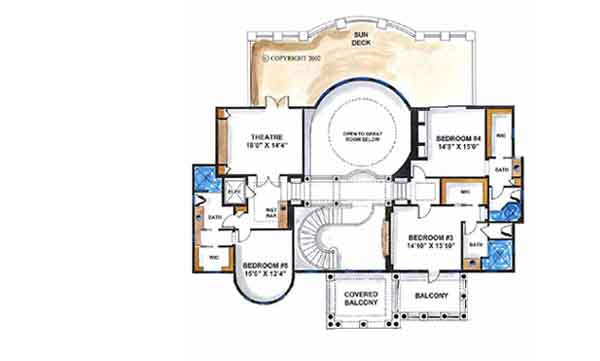 Upper/Second Floor Plan: 55-170