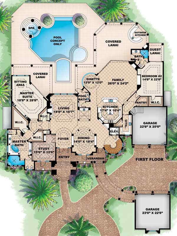 Main Floor Plan: 55-171