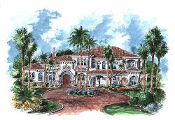 Tuscan Style House Plans Plan: 55-171