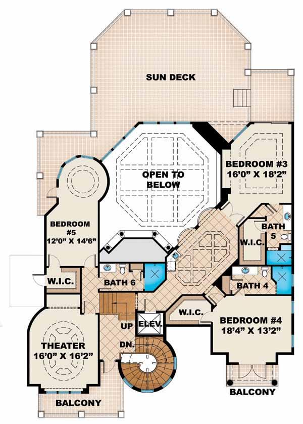 Upper/Second Floor Plan: 55-171