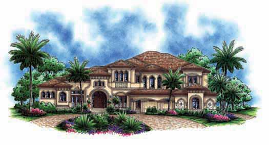 Tuscan Style Floor Plans Plan: 55-172