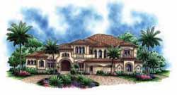Tuscan Style Floor Plans Plan: 55-172