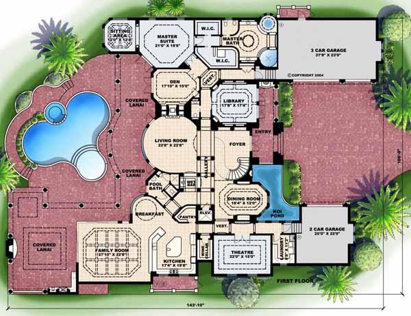 Main Floor Plan: 55-173