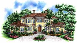 Mediterranean Style Floor Plans Plan: 55-173