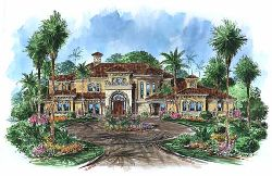 Tuscan Style House Plans Plan: 55-174
