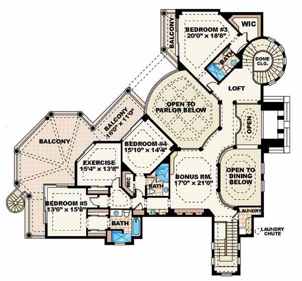 Upper/Second Floor Plan: 55-174