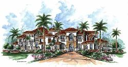Italian Style House Plans Plan: 55-175