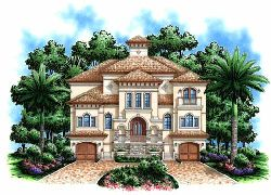 Mediterranean Style House Plans Plan: 55-177